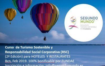 Apúntate al Curso Turismo Sostenible y RSC para Hotel y Restaurante
