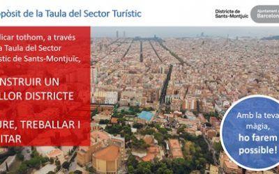"""¡Con tu magia lo haces posible!: Primer encuentro """"Taula Sector Turístic Sants-Montjuïc"""""""