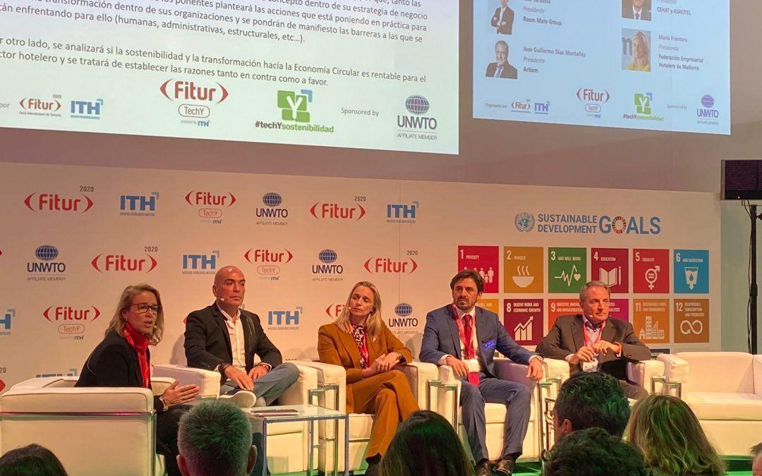 """FiturtechYSostenibilidad'20: """"La Metamorfosis del Sector Hotelero"""" mesa de debate moderada por Pili Malagarriga"""