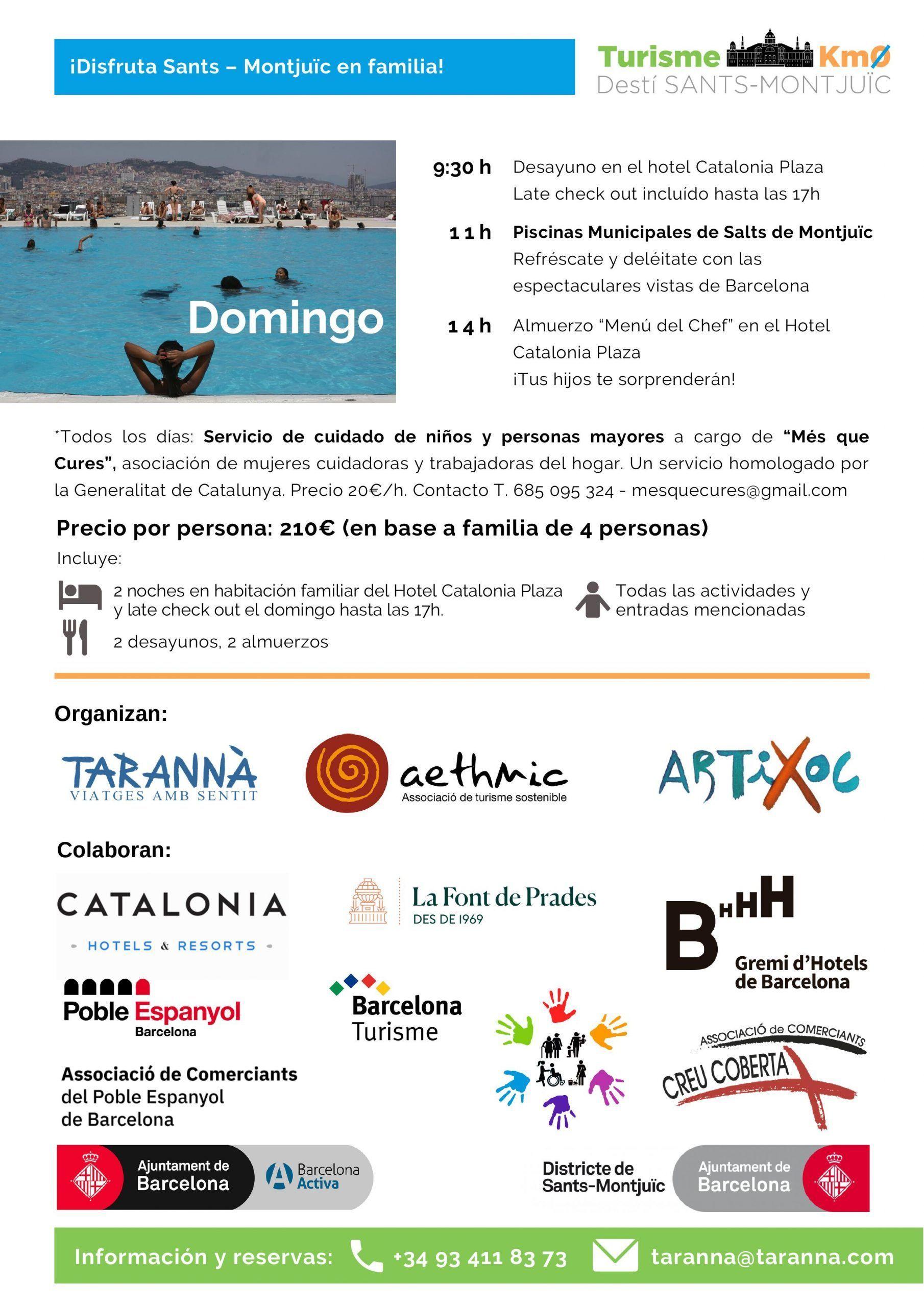 Turismo km0 familias Barcelona